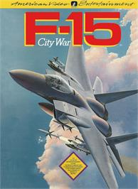 Box cover for F-15 City War on the Nintendo NES.