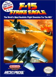 Box cover for F-15 Strike Eagle on the Nintendo NES.