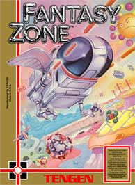 Box cover for Fantasy Zone on the Nintendo NES.