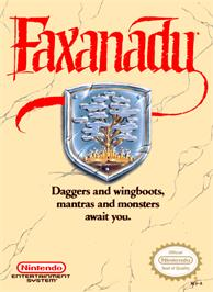 Box cover for Faxanadu on the Nintendo NES.