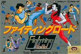 Box cover for Fighting Road on the Nintendo NES.