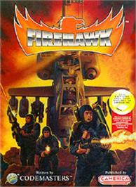 Box cover for Fire Hawk on the Nintendo NES.