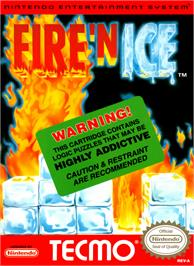 Box cover for Fire and Ice on the Nintendo NES.