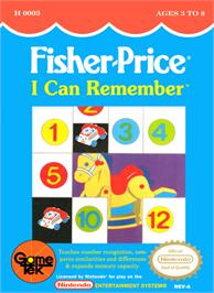 Box cover for Fisher-Price: I Can Remember on the Nintendo NES.