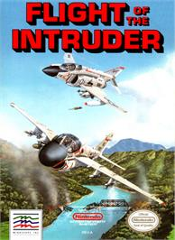 Box cover for Flight of the Intruder on the Nintendo NES.
