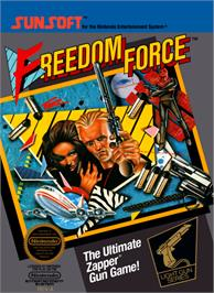 Box cover for Freedom Force on the Nintendo NES.