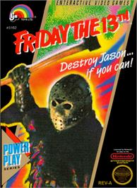 Box cover for Friday the 13th on the Nintendo NES.