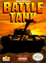 Box cover for Garry Kitchen's Battletank on the Nintendo NES.