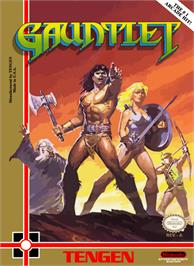 Box cover for Gauntlet on the Nintendo NES.