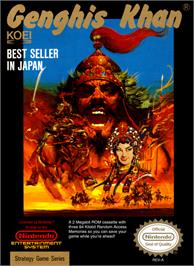 Box cover for Genghis Khan on the Nintendo NES.