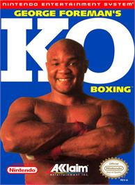 Box cover for George Foreman's KO Boxing on the Nintendo NES.