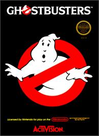 Box cover for Ghostbusters on the Nintendo NES.