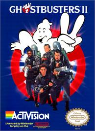 Box cover for Ghostbusters 2 on the Nintendo NES.