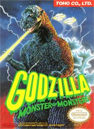 Box cover for Godzilla: Monster of Monsters on the Nintendo NES.