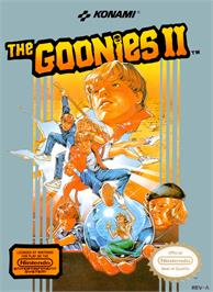 Box cover for Goonies 2 on the Nintendo NES.