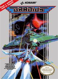 Box cover for Gradius on the Nintendo NES.