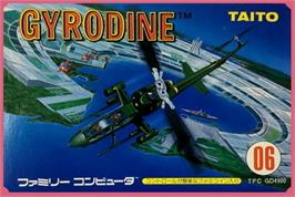 Box cover for Gyrodine on the Nintendo NES.