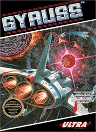 Box cover for Gyruss on the Nintendo NES.