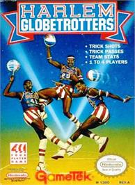 Box cover for Harlem Globetrotters on the Nintendo NES.