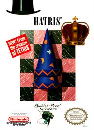 Box cover for Hatris on the Nintendo NES.