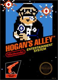 Box cover for Hogan's Alley on the Nintendo NES.