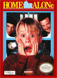 Box cover for Home Alone on the Nintendo NES.