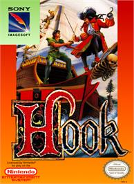 Box cover for Hook on the Nintendo NES.
