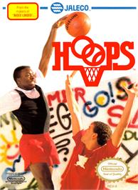 Box cover for Hoops on the Nintendo NES.