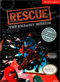 Box cover for Hostage: Rescue Mission on the Nintendo NES.