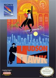 Box cover for Hudson Hawk on the Nintendo NES.