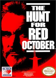 Box cover for Hunt for Red October on the Nintendo NES.