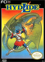 Box cover for Hydlide on the Nintendo NES.