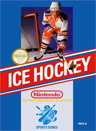 Box cover for Ice Hockey on the Nintendo NES.