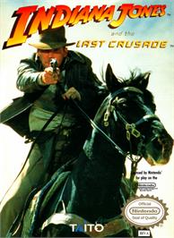 Box cover for Indiana Jones and the Last Crusade on the Nintendo NES.