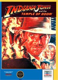 Box cover for Indiana Jones and the Temple of Doom on the Nintendo NES.