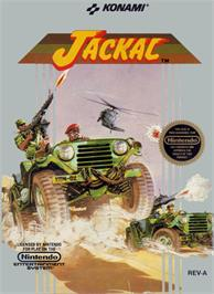 Box cover for Jackal on the Nintendo NES.