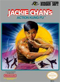 Box cover for Jackie Chan's Action Kung Fu on the Nintendo NES.