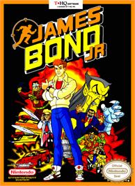 Box cover for James Bond Jr. on the Nintendo NES.