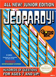 Box cover for Jeopardy! Junior Edition on the Nintendo NES.