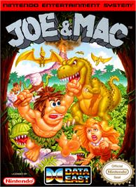 Box cover for Joe & Mac: Caveman Ninja on the Nintendo NES.
