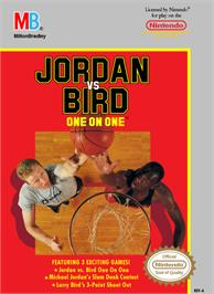 Box cover for Jordan vs. Bird: One-on-One on the Nintendo NES.