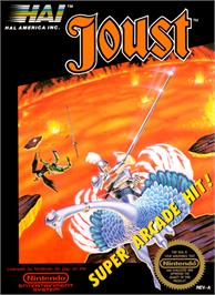 Box cover for Joust on the Nintendo NES.