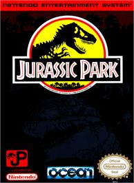 Box cover for Jurassic Park on the Nintendo NES.