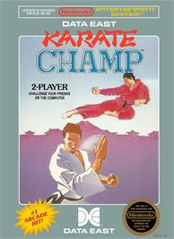 Box cover for Karate Champ on the Nintendo NES.
