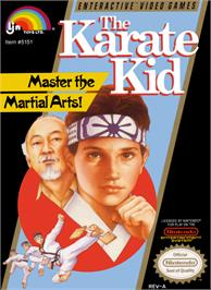 Box cover for Karate Kid on the Nintendo NES.