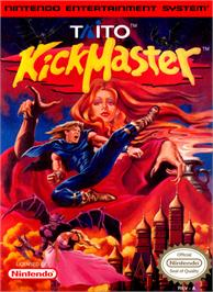 Box cover for Kick Master on the Nintendo NES.