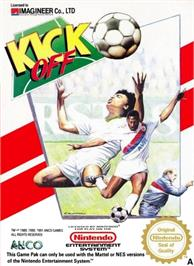 Box cover for Kick Off on the Nintendo NES.