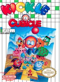 Box cover for Kickle Cubicle on the Nintendo NES.