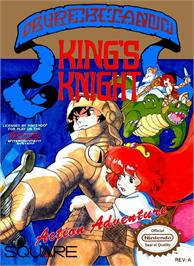 Box cover for King's Knight on the Nintendo NES.