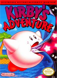 Box cover for Kirby's Adventure on the Nintendo NES.
